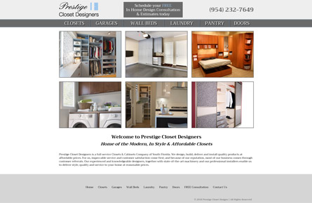 Prestige Closet Designers | www.prestigeclosetdesigners.com